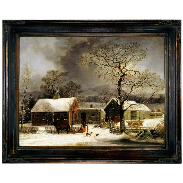 George Henry Durrie Winter Scene in New Haven Connecticut