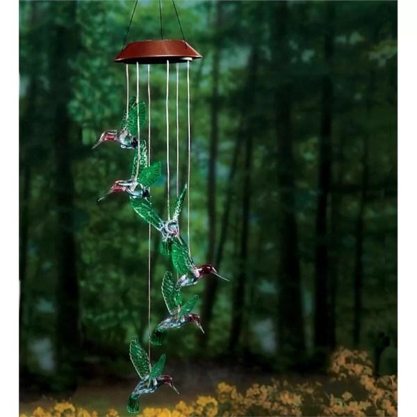 Wind & Weather Six Hummingbird Solar Mobile Chime