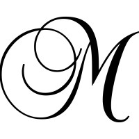 "Enchantingly Elegant Letter ""M"" Wall Decal & Reviews 