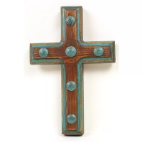 MyAmigosImports Santa Fe Rustic Cross Wall Decor