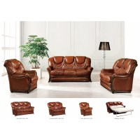 NociDesign 3 Piece Leather Living Room Set | Wayfair