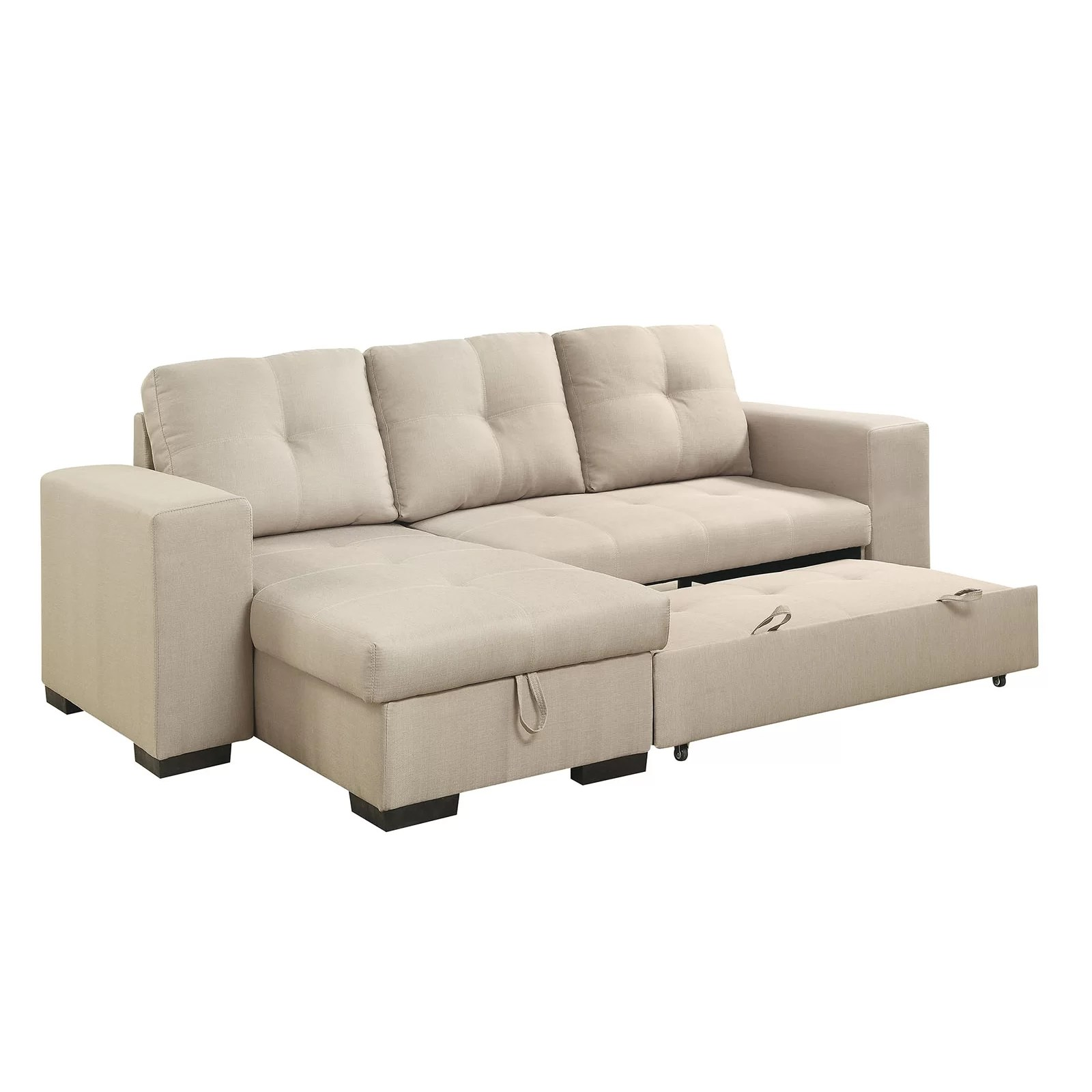 AJ Homes Studio Reversible Chaise Sleeper Sectional  Wayfair