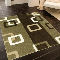 Green And Brown Bathroom Rug