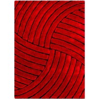 AllStar Rugs Hand-Tufted Red Area Rug & Reviews   Wayfair