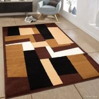 AllStar Rugs Hand-Woven Dark Brown Area Rug | Wayfair