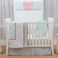 Petite Namaste Damask 3 Piece Crib Bedding Set