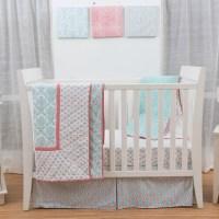 Petite Namaste Damask 3 Piece Crib Bedding Set