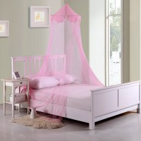 Casablanca Kids Pom Pom Kids Collapsible Hoop Sheer Bed ...