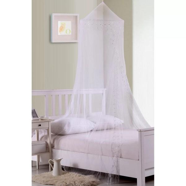 Casablanca Kids Galaxy Collapsible Hoop Sheer Bed Canopy &