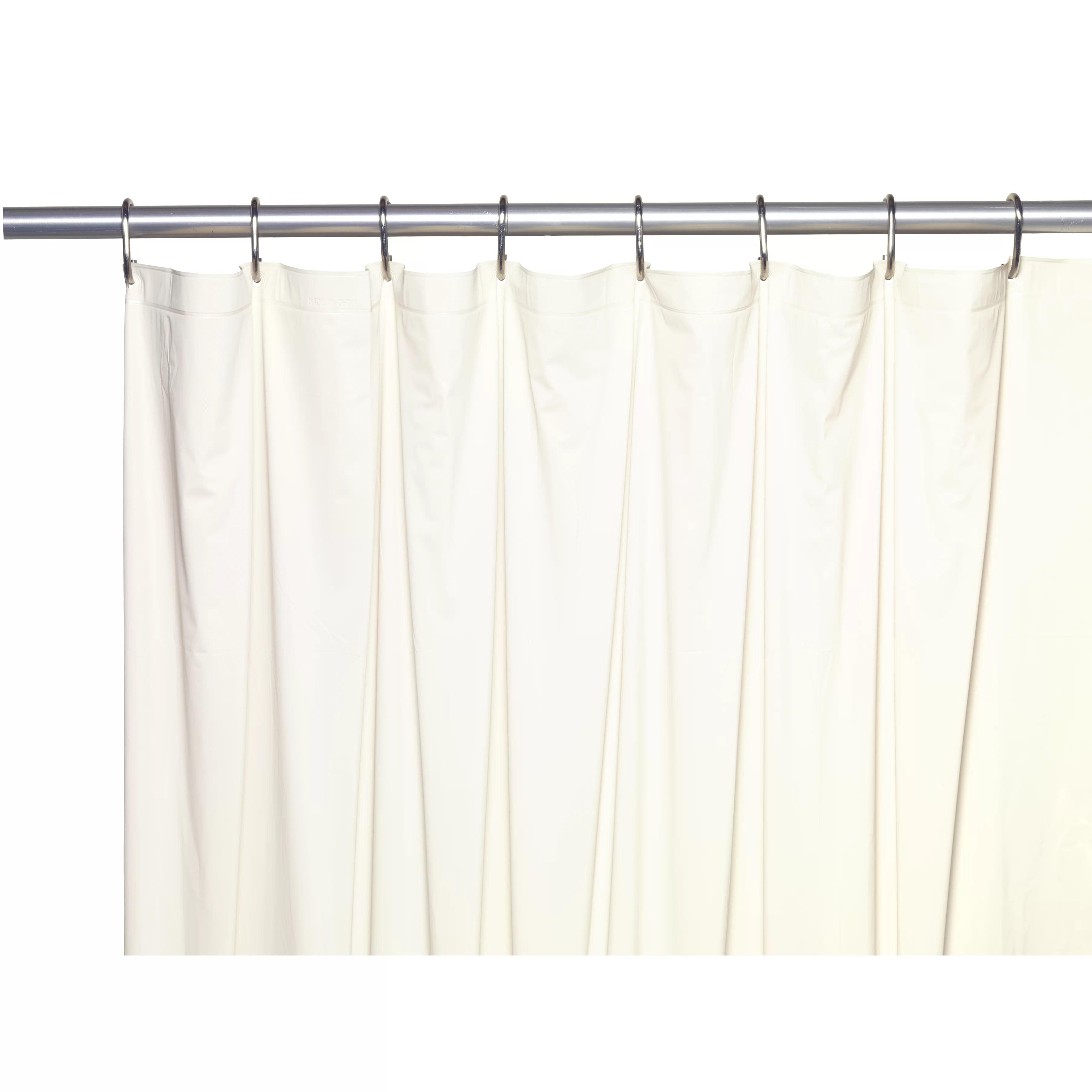 Ben and Jonah Vinyl 5 Gauge Shower Curtain Liner  Wayfair