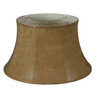 "RoyalDesigns 17"" Timeless Faux Leather Drum Lamp Shade ..."