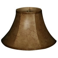 "RoyalDesigns 13"" Timeless Faux Leather Shallow Bell Lamp ..."