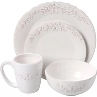 Design Guild Bianca Laurel 16 Piece Dinnerware Set ...
