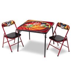 Folding Table And Chair Set Swivel Ikea Uk Deltachildren Mickey Children 3 Piece Square