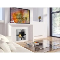 Ignis Tokyo Recessed Ventless Wall Mount Ethanol Fireplace ...