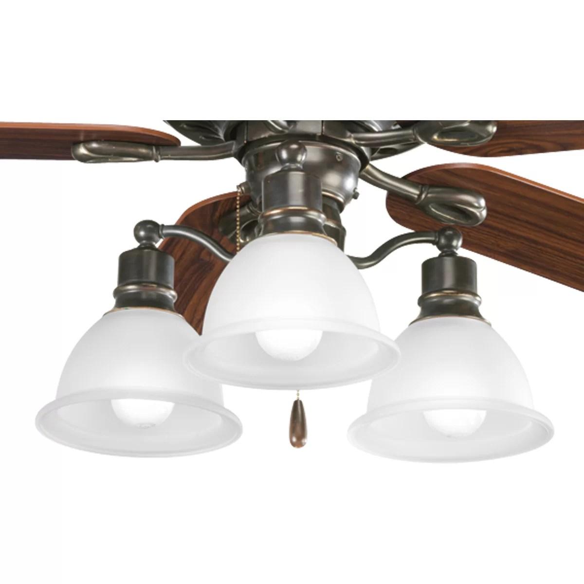 Progress Lighting Madison 3 Light Branched Ceiling Fan