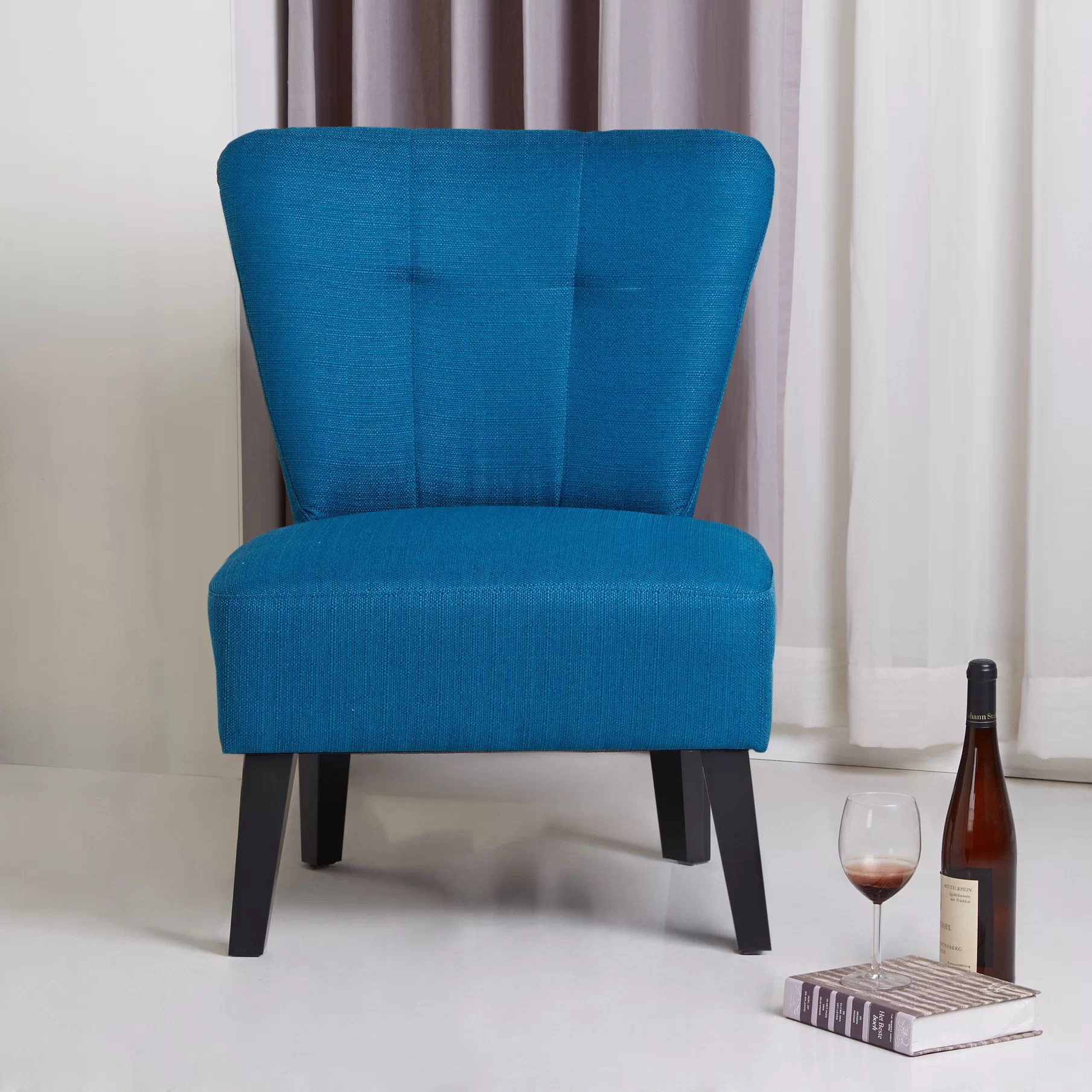 modern slipper chair high top table height porter international designs maddie contemporary
