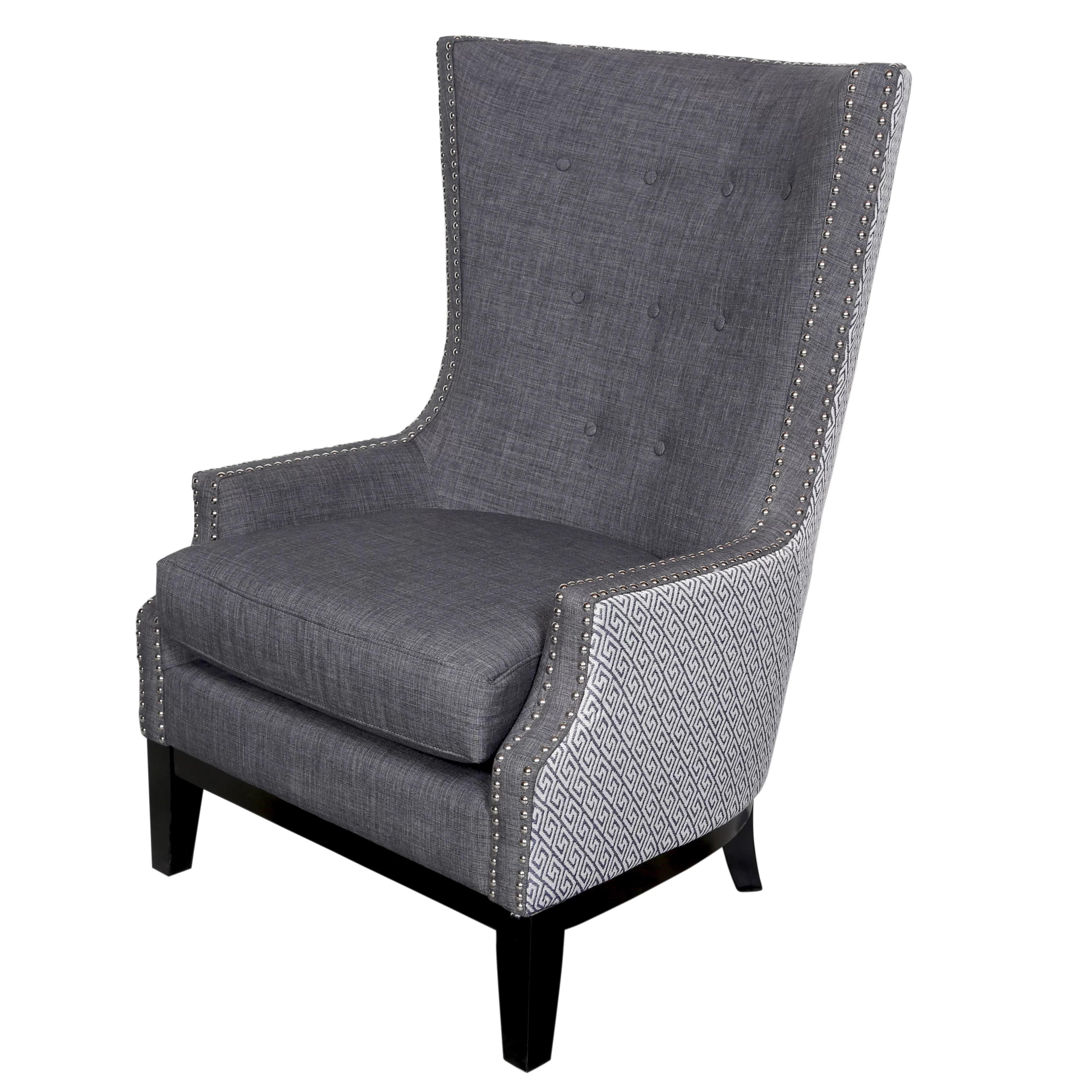 nailhead wingback chair dxracer gaming porter international designs draper arm