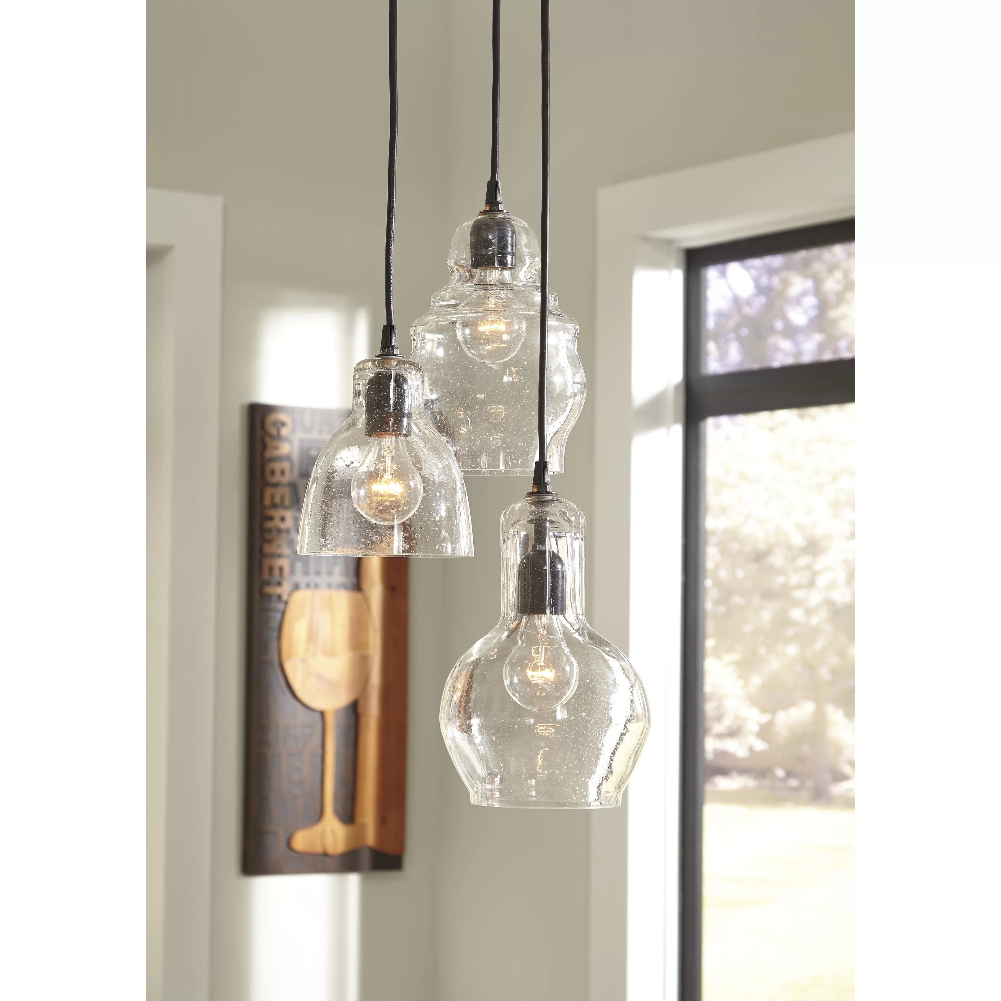 modern pendant lighting for kitchen lowes trash cans laurel foundry farmhouse auguste 3 light