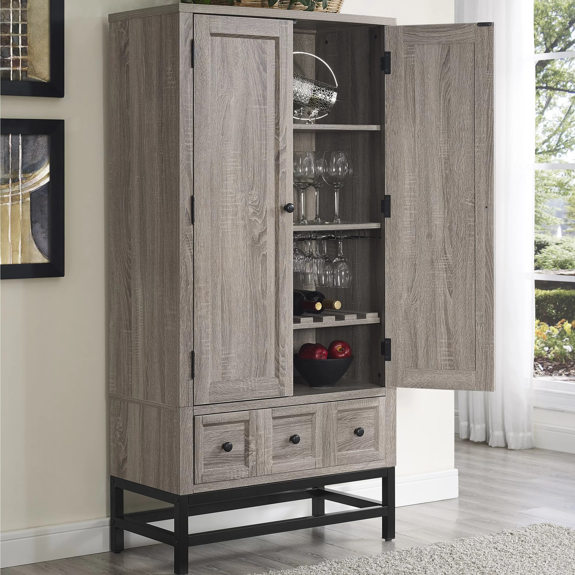 Laurel Foundry Modern Farmhouse Omar Beverage Cabinet  Reviews  Wayfairca