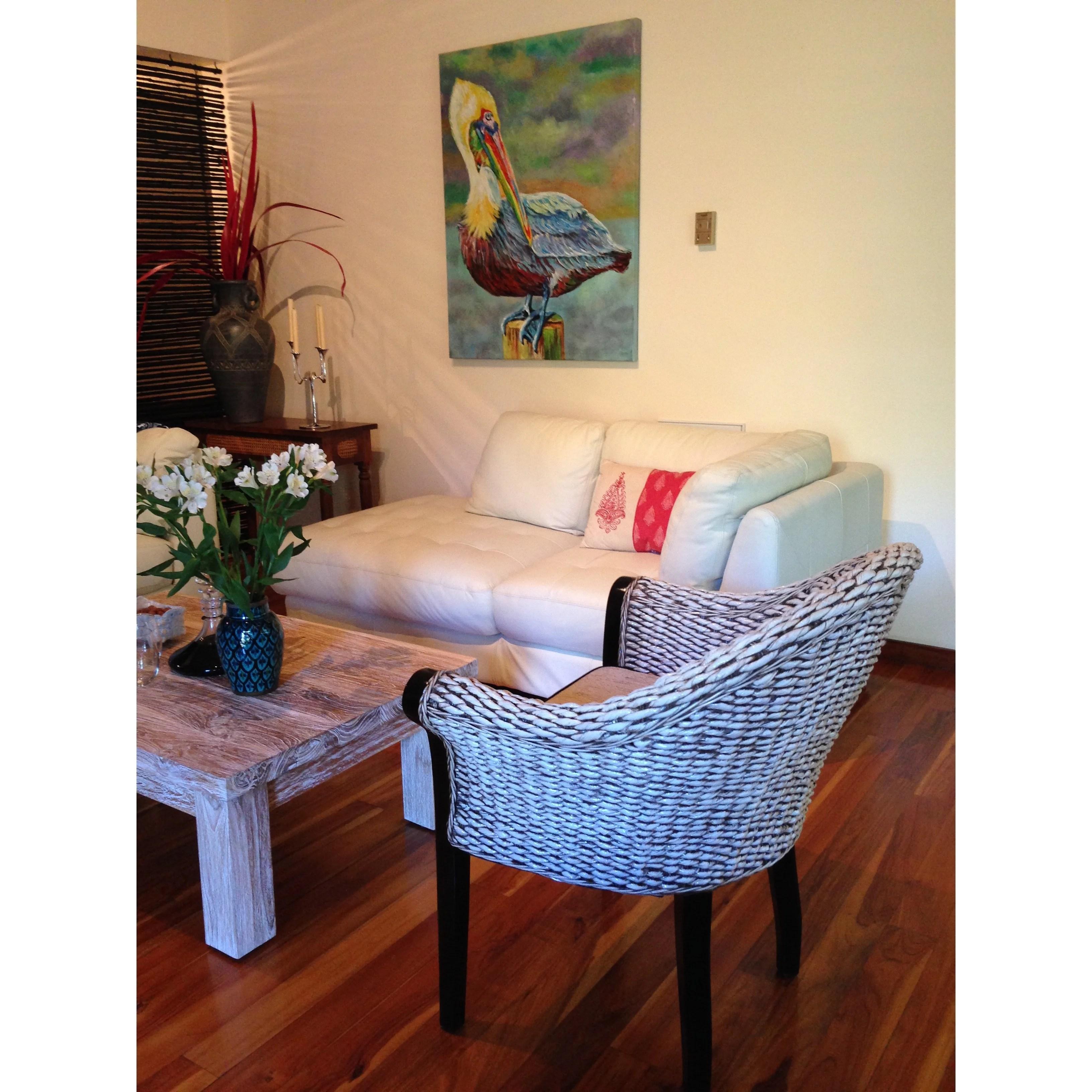 banana leaf dining room chairs chair rail molding home depot chicteak paris arm wayfair