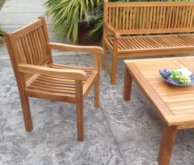 Chic Teak Furniture Chicteak Elzas Teak Garden Bench Wayfair