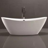 "vanityart 71"" x 34"" Freestanding Soaking Bathtub | Wayfair.ca"