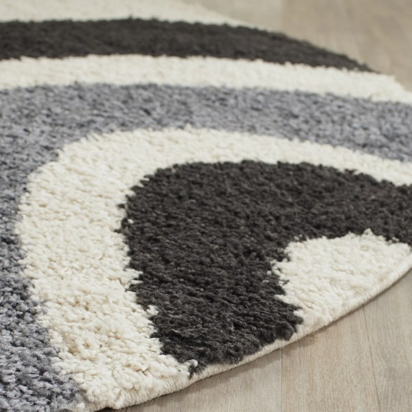 Safavieh Shag Ivory & Grey Contemporary Area Rug