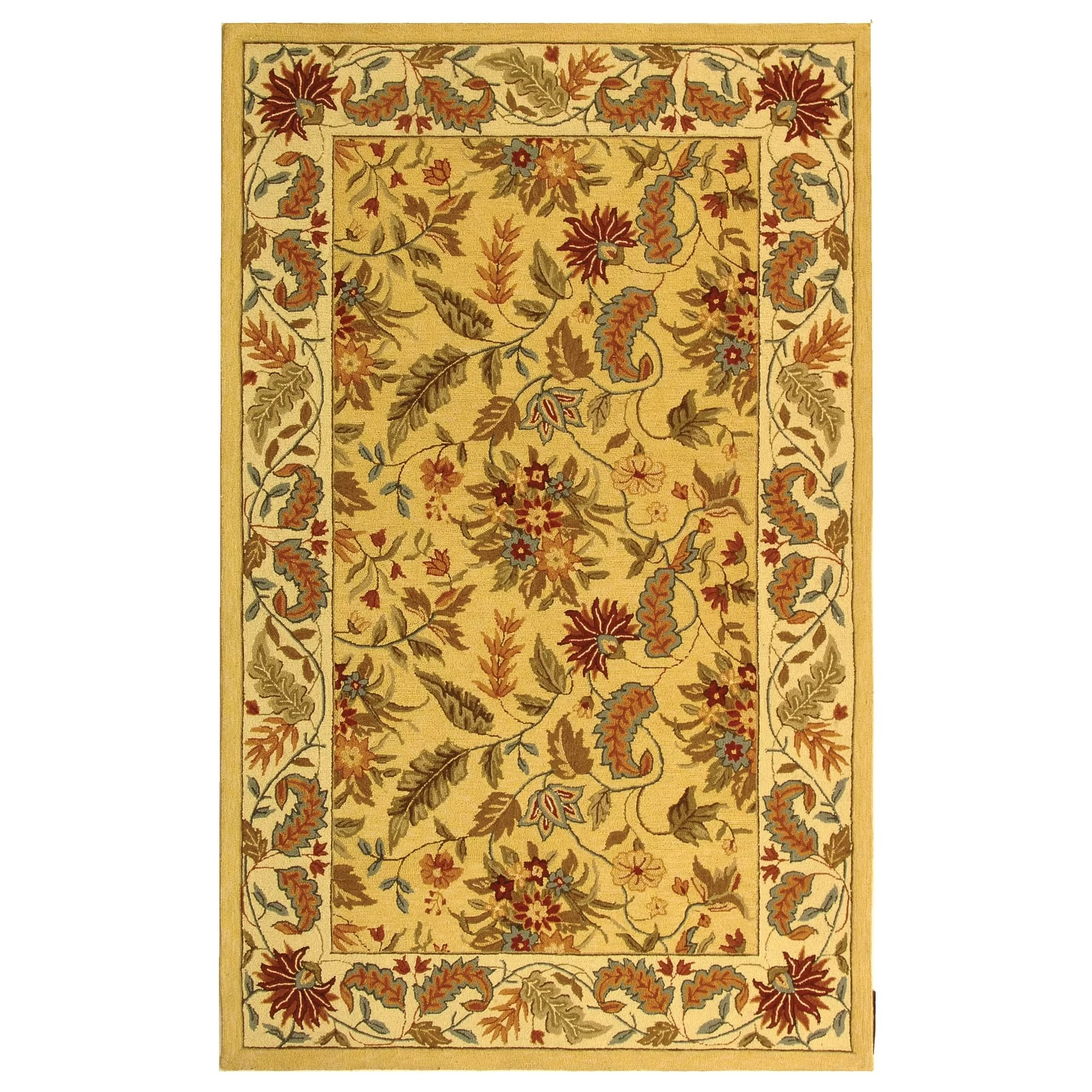 chicken kitchen rugs commercial stainless steel sink safavieh chelsea beige & red missy floral area rug ...