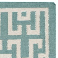 Safavieh Dhurries Seafoam/Ivory Outdoor Area Rug