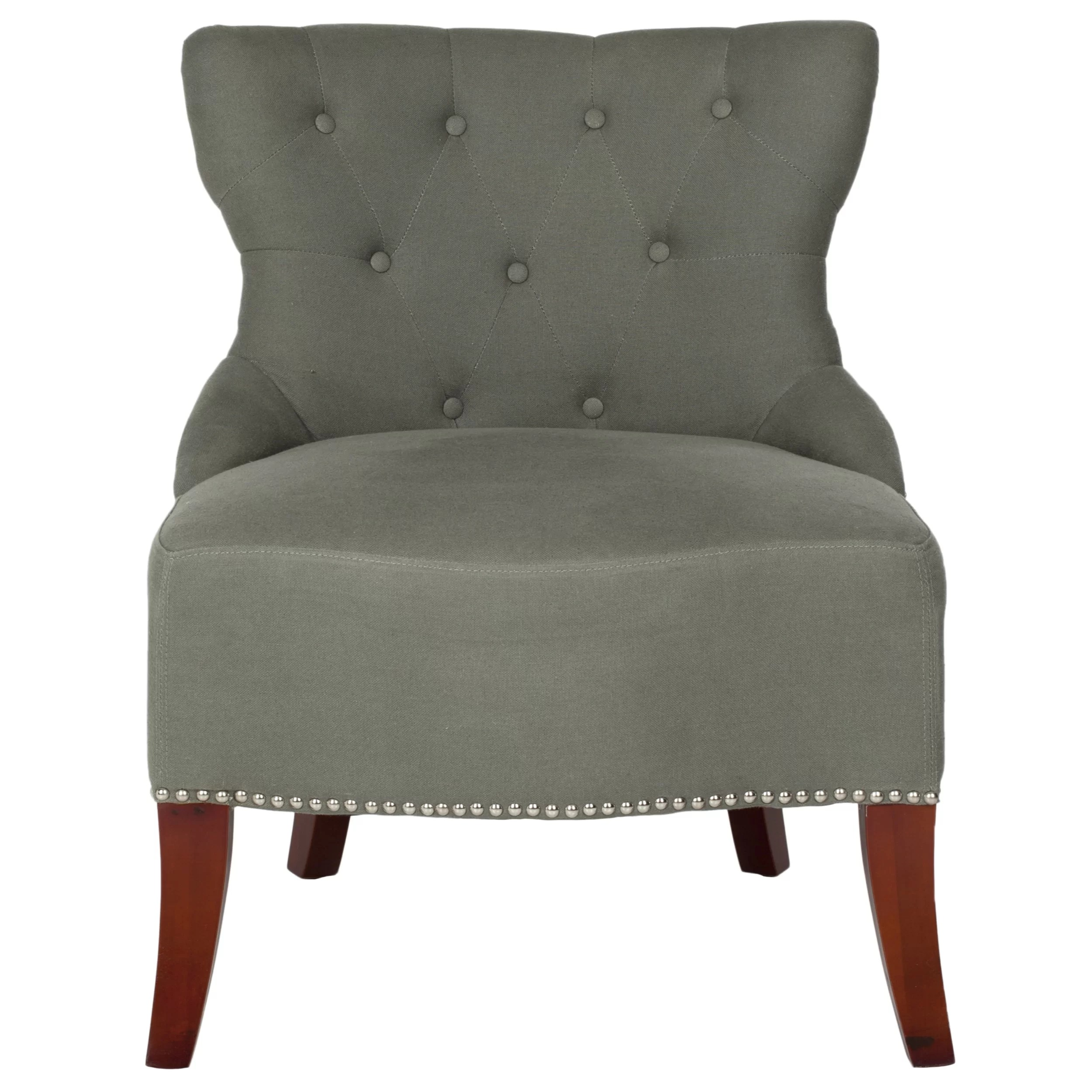 Tufted Slipper Chair Safavieh Zachary Tufted Living Room Slipper Chair