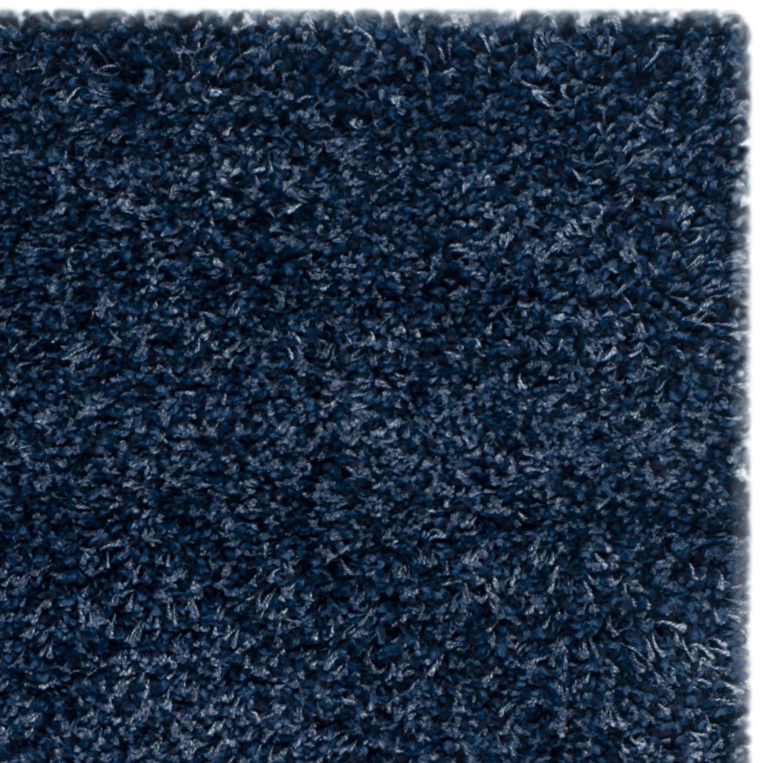 chicken kitchen rugs aid professional mixer safavieh shag navy blue solid rug & reviews | wayfair