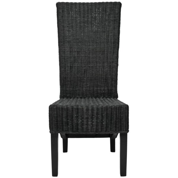 Wicker High Back Dining Chairs