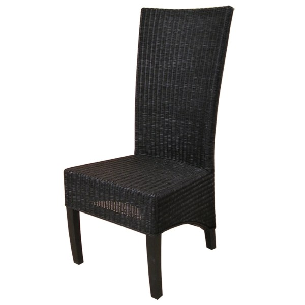 Wicker Rattan Parsons Chairs