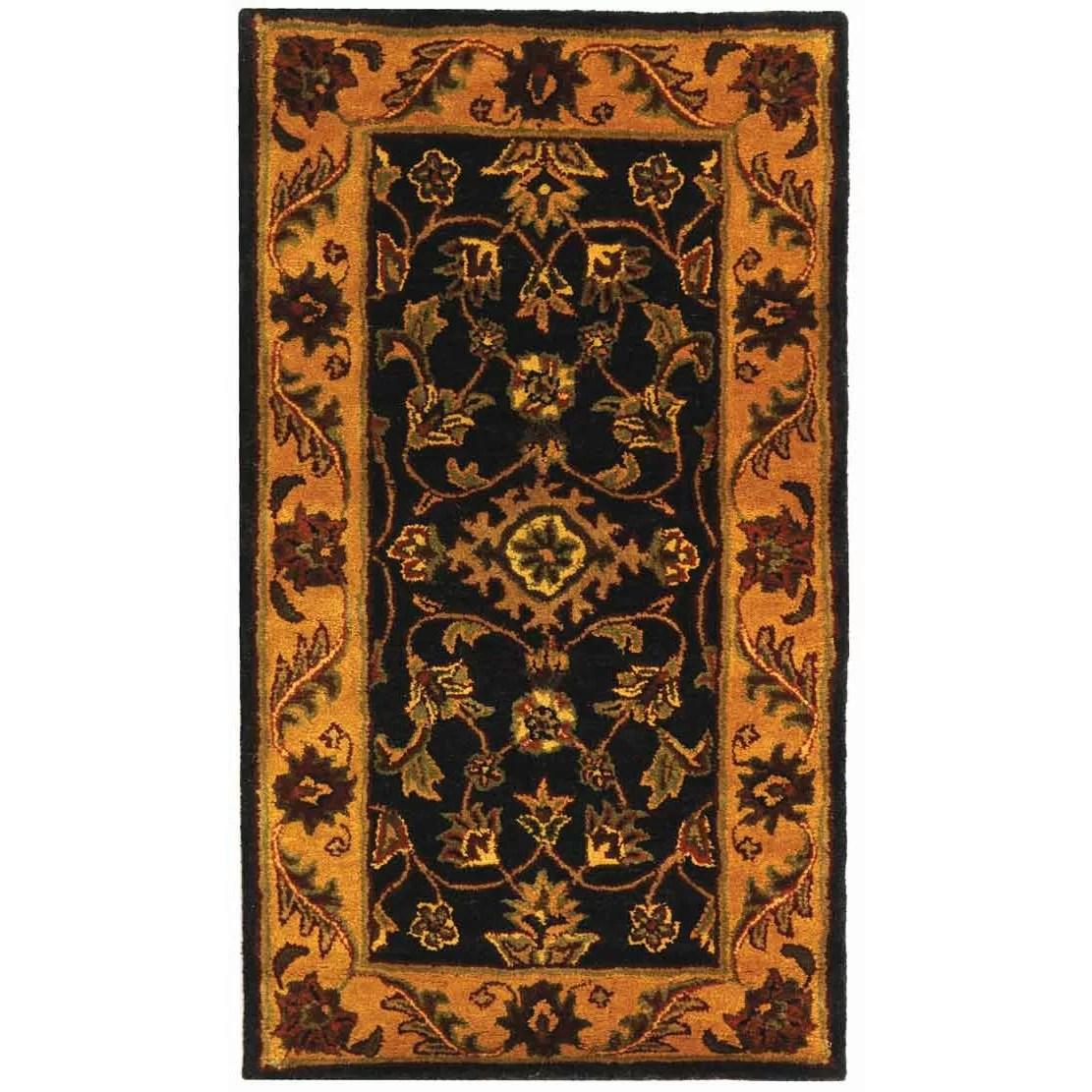 Safavieh Golden Jaipur BlackGold Area Rug  Reviews  Wayfair