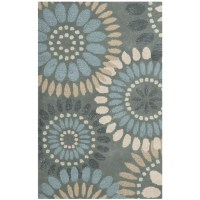 Safavieh Jardin Grey & Blue Floral Area Rug & Reviews ...