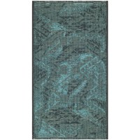 Safavieh Palazzo Black & Turquoise Velvety Area Rug
