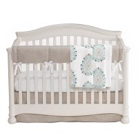 LizandRooFineBabyBedding Damask 3 Piece Crib Bedding Set ...