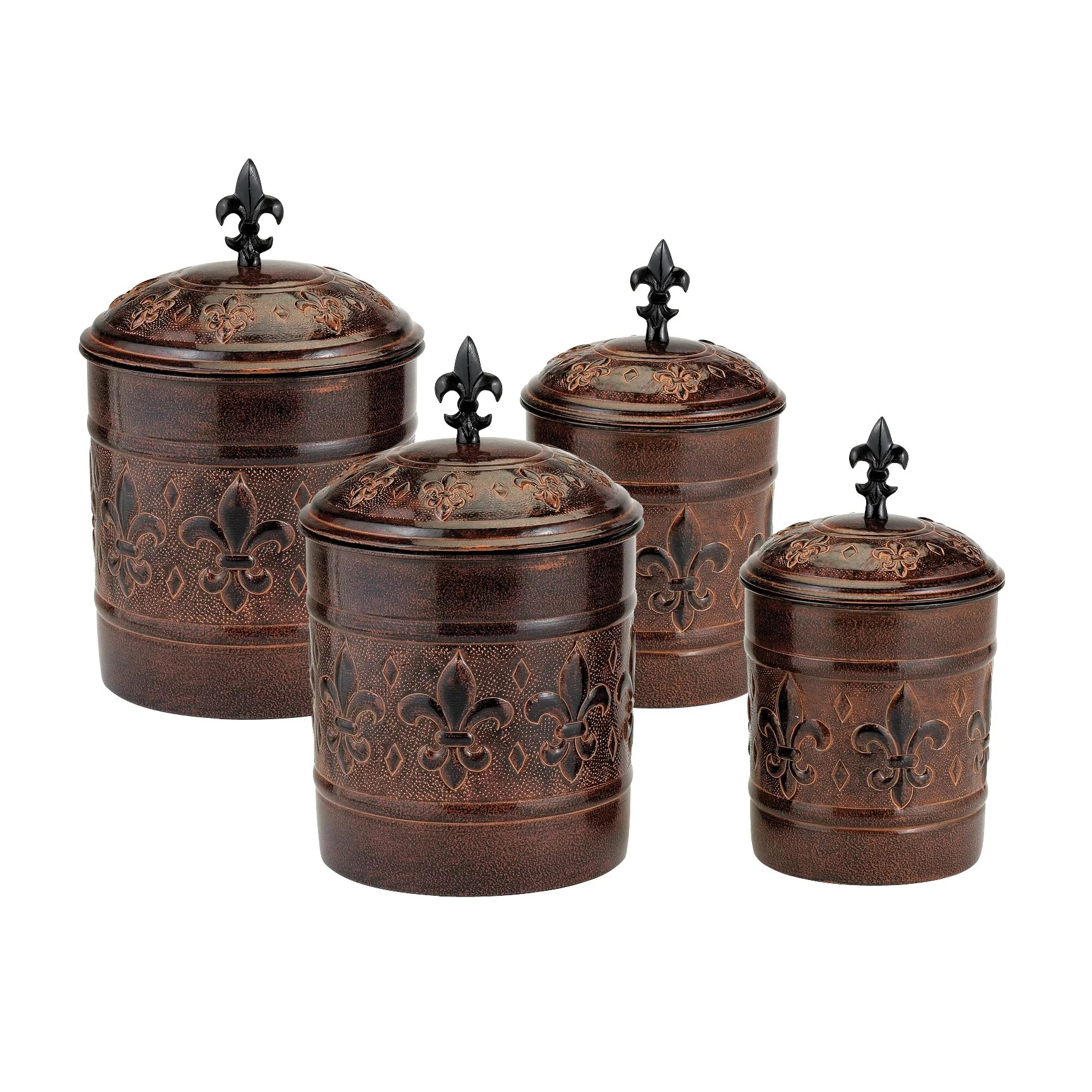 decorative kitchen canisters sets child set old dutch versailles 4 piece canister