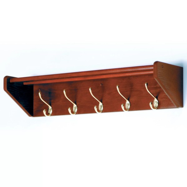 Wooden Mallet Hat and Coat Rack with 5 Hooks & Reviews ...
