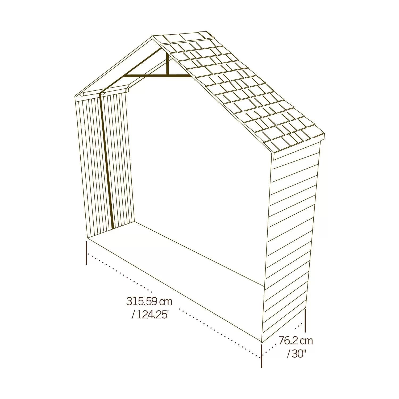 Lifetime 11 W X 2 5 D Shed Extension Kit Amp Reviews