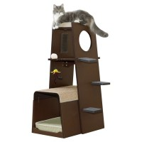 "Sauder 43"" Modular Modern Cat Tree & Reviews | Wayfair"