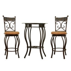 Pub Table And Chairs 3 Piece Set 2 White Wedding Chair Covers Uk Boraam Beau Counter Height Reviews