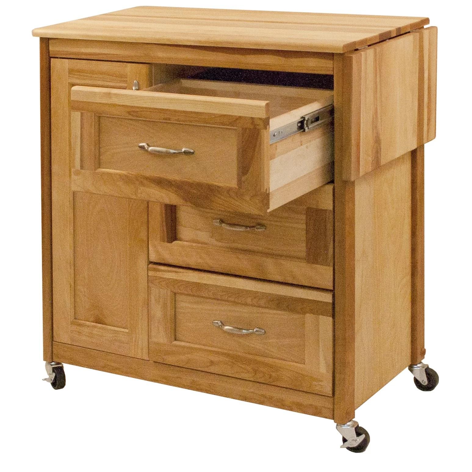 catskill craftsmen kitchen island office appliances cart wayfair