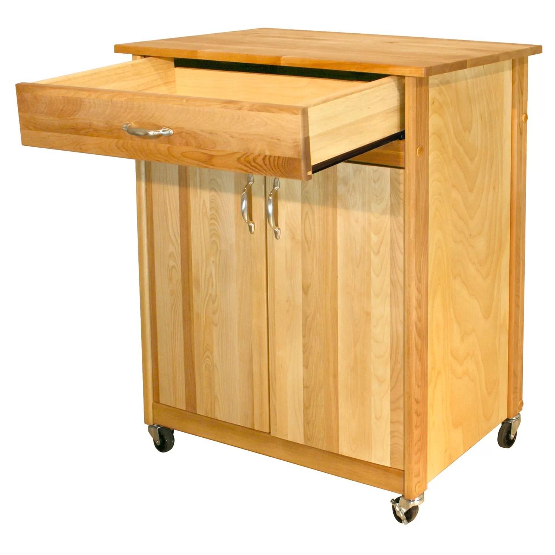 catskill craftsmen kitchen island ebay cabinets mid size cart with butcher