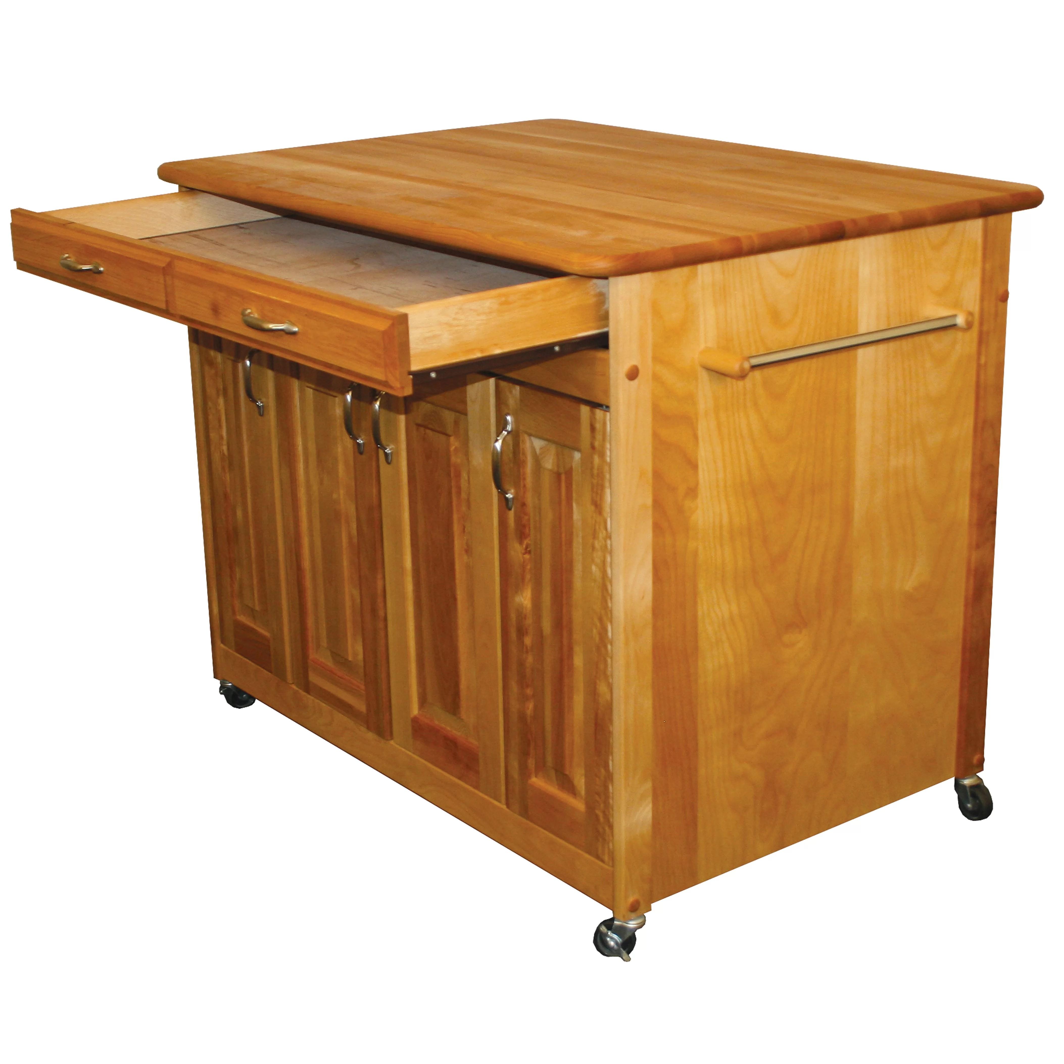 catskill craftsmen kitchen island best hoods with butcher block top