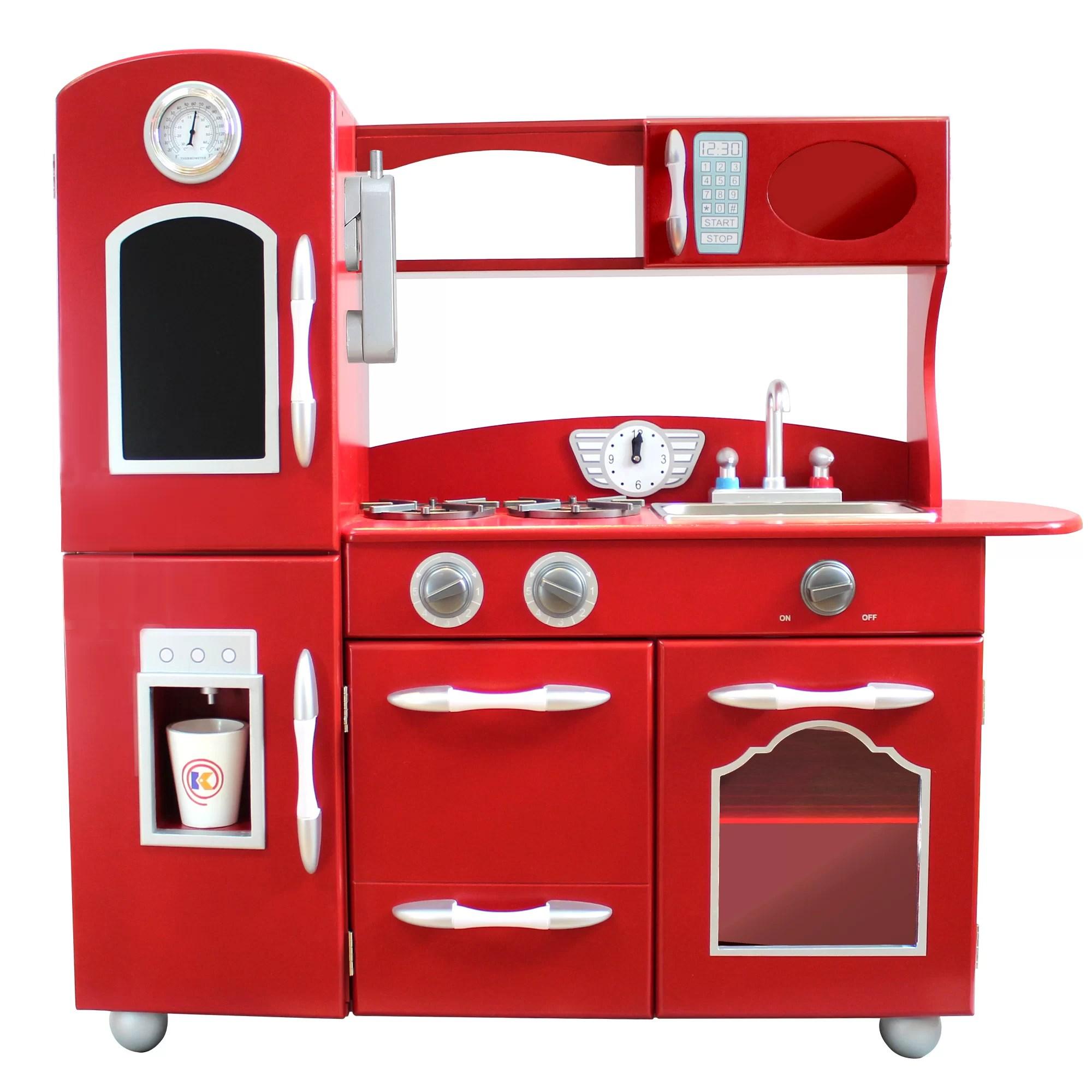 Teamson Kids Wooden Play Kitchen Set Amp Reviews Wayfair