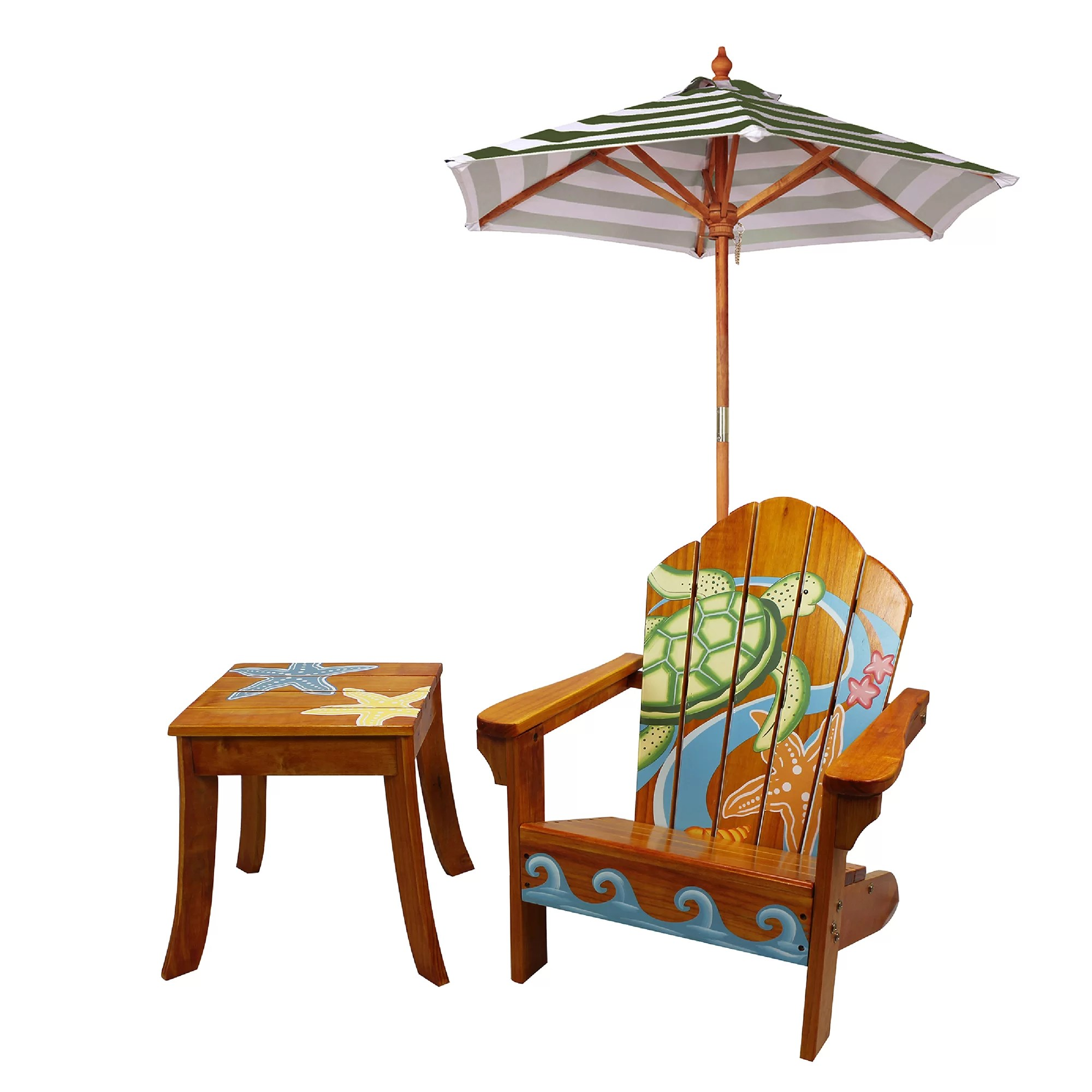 Kids Outdoor Table And Chairs Teamson Kids Winland Sea Turtle Outdoor Wood Table And Chair
