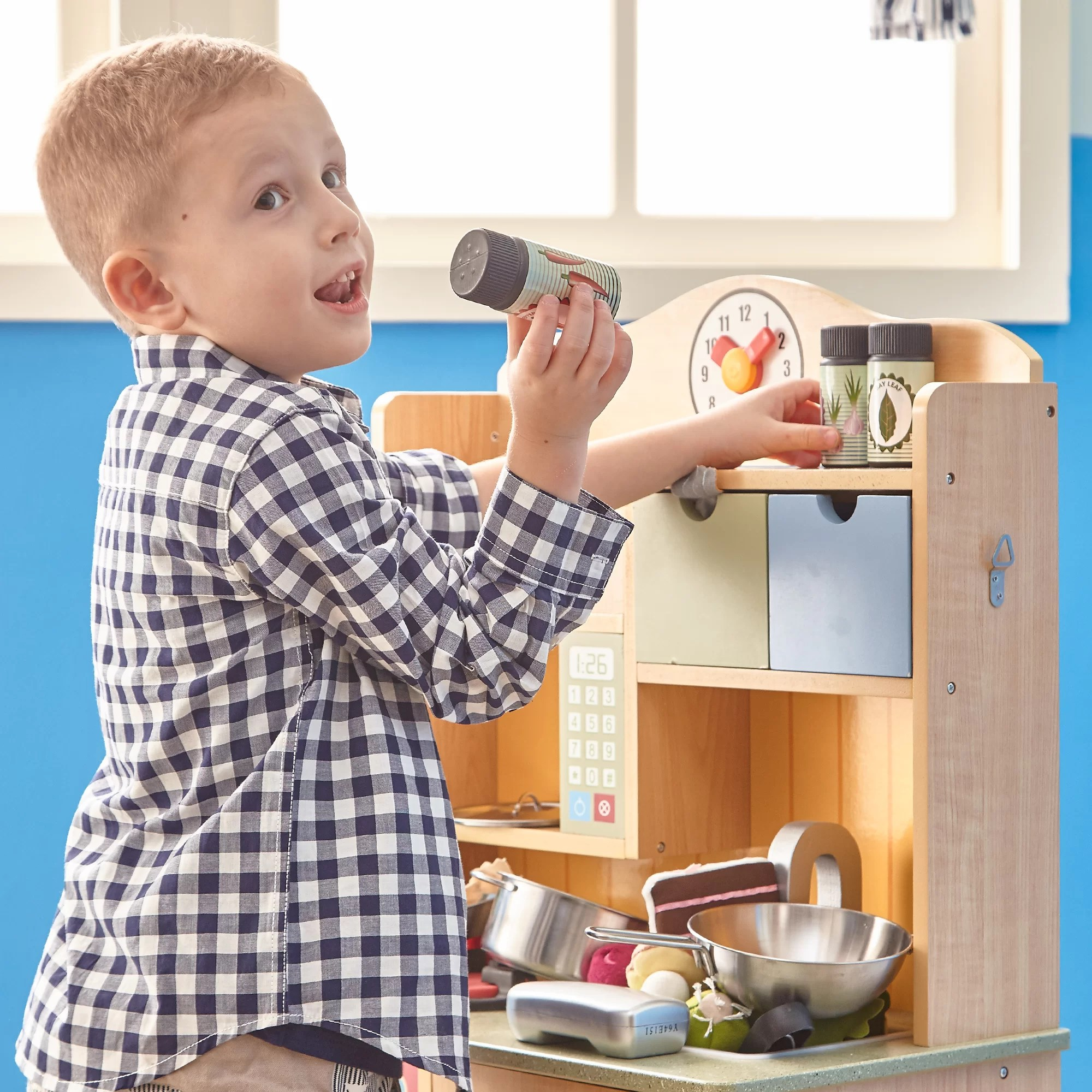 kids play kitchen accessories exhaust hood cleaning certification teamson little chef wooden with