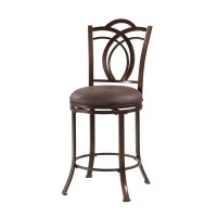 "Linon Calif 24"" Swivel Bar Stool & Reviews"